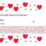 """KONKURS """"POETYCKIE WALENTYNKI 2017″"""