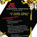 """ZŁOTA SZPILA XX OGÓLNOPOLSKIEGO TURNIEJU SATYRY """" O ZŁOTĄ SZPILĘ"""" 2017"""