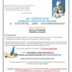 XXII MAZOWIECKI KONKURS LITERACKI NA FRASZKĘ O STATUETKĘ JANA KOCHANOWSKIEGO
