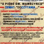 """KONKURS LITERACKI IV EDYCJA """"O PIÓRO ŚW. WAWRZYŃCA"""" TEMAT: """"DOCZYTANIA…"""""""