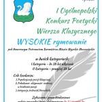 I Ogólnopolski Konkurs Poetycki Wiersza Klasycznego WYSOKIE rymowanie